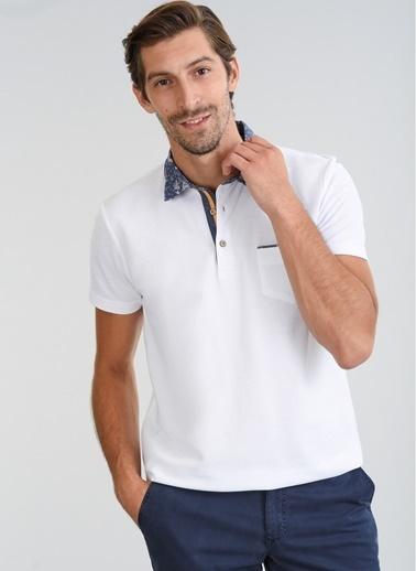 People By Fabrika Polo Yaka Tişört Beyaz